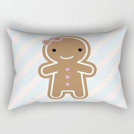 Cookie Cute Gingerbread Girl Rectangular Pillow