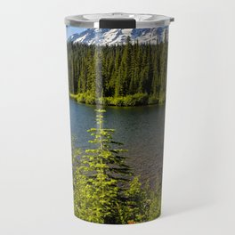 Wildflower Color by Reflection Lake and Mt Rainier, No. 2 Travel Mug