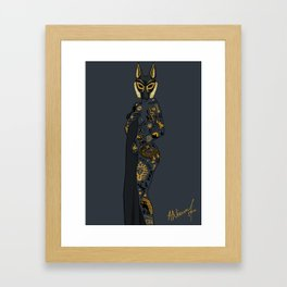 Late Night Egyptian Tales Ep. 1: Anubis Framed Art Print