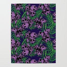 Orchid Skulls Poster