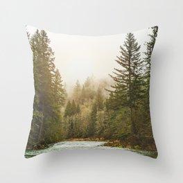 And A River Runs Through It Throw Pillow