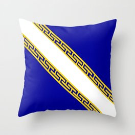 champagne ardenne region flag france country province Throw Pillow