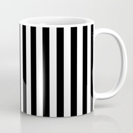 Abstract Black and White Vertical Stripe Lines 15 Coffee Mug