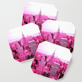 New York City Pink Coaster