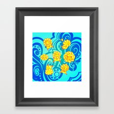 Flower Kids Framed Art Print