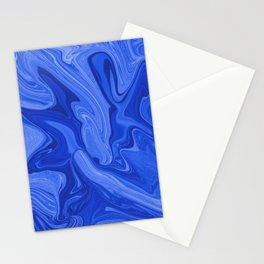 Abstract Blue Liquids Stationery Cards