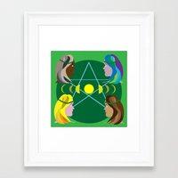 goddess Framed Art Prints featuring Goddess by Watch House Design
