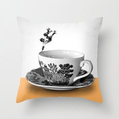 Skate Cup Throw Pillow