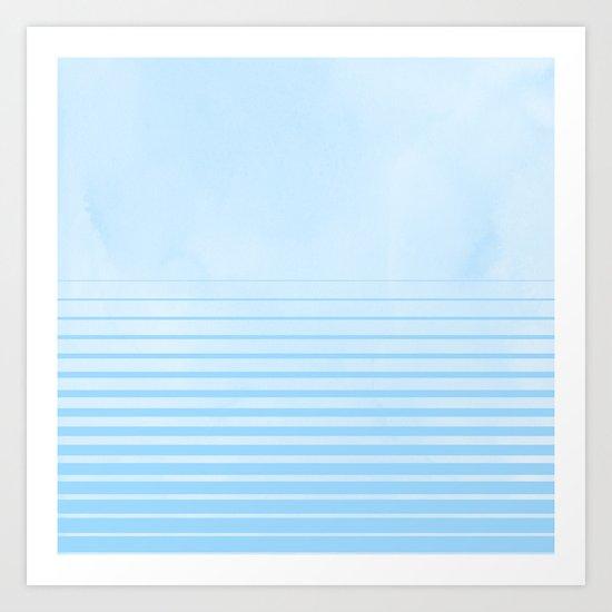 Sweet Life Collection Gradient Blue Raspberry Art Print