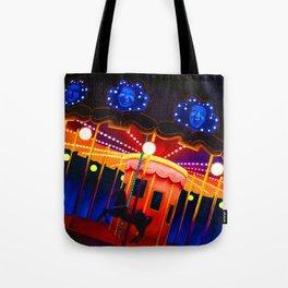 Carousel , Oil Painting Tote Bag