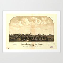 East View of North Bridgewater (Brockton), Massachusetts (1844) Art Print