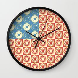 United Donuts of America Wall Clock