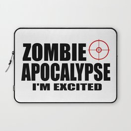 zombie funny sayings and logos Laptop Sleeve