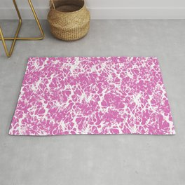 Pink and White Cracked Surface Rug