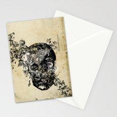 skull crystallisation Stationery Cards