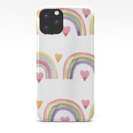 Rainbows & Hearts iPhone Case