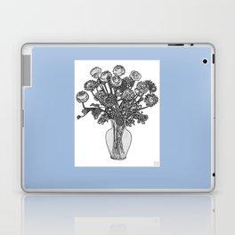 Spring Flowers in Vase on Robin's Egg Blue Background Laptop & iPad Skin
