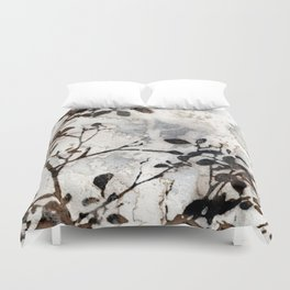Desaturated Jungle Botanical Art Duvet Cover