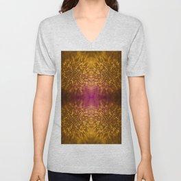 Gold Starburst Shimmer Unisex V-Neck