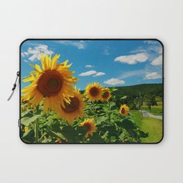 Sunflowers In Sunflower Field Laptop Sleeve
