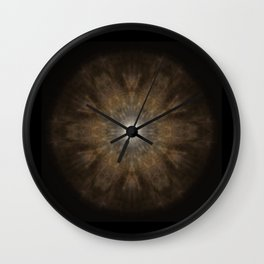 Clouded Coffee Mandala Wall Clock