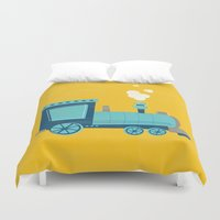 train Duvet Covers featuring Train by KatieDaugherty