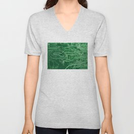 Electronic circuit board Unisex V-Neck
