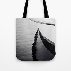 Reflections Black and White Nautical Boat Tote Bag