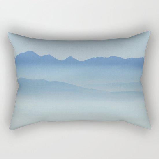 """""""Misty mountains"""". Blue hour Rectangular Pillow"""