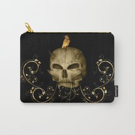 Golden skull with crow Carry-All Pouch