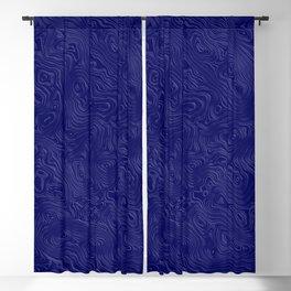 Royal Blue Silk Moire Pattern Blackout Curtain