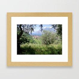 Italian peek through Framed Art Print