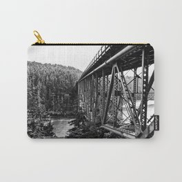 A Bridge into the Woods Carry-All Pouch