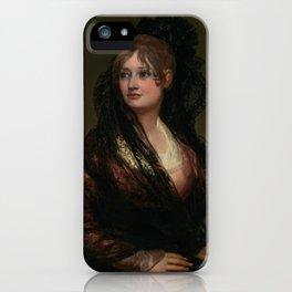 "Francisco Goya ""Portrait of Doña Isabel de Porcel"" iPhone Case"
