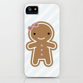 Cookie Cute Gingerbread Girl iPhone Case
