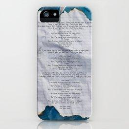 SLOW HANDS iPhone Case