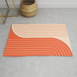 Two Tone Line Curvature XI  Rug