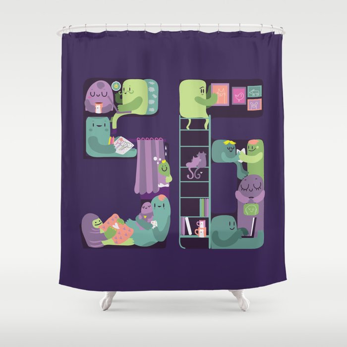 S6 tee Home is where S6 is Shower Curtain
