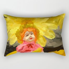 Creepy Sunflower Rectangular Pillow