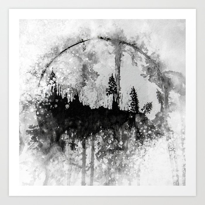 INTO THE FOREST I GO Art Print