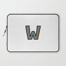 Uppercase Letter W Laptop Sleeve