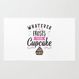 Whatever Frosts Your Cupcake Typography Rug