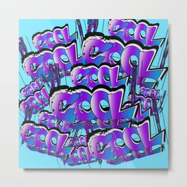 Cool Graffiti Typography Lettering Art / GFTTypography006  Metal Print