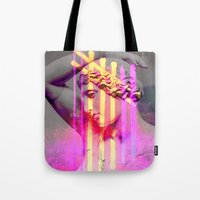 goddess Tote Bags featuring Goddess by Iris & Ino