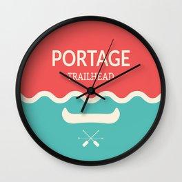 Wilderness: Portage Wall Clock