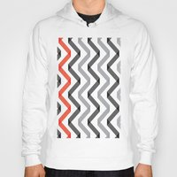 scandinavian Hoodies featuring Geometric Minimalist Pattern Scandinavian Design by Nordic Print Studio