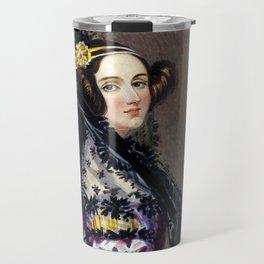 Portrait of Ada Lovelace by Alfred Edward Chalon Travel Mug