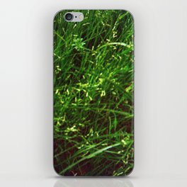 Damaged Disposable Camera Film - Grass iPhone Skin