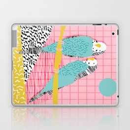 Hottie - throwback retro 1980s 80s style memphis dots bird art neon cool hipster college dorm art Laptop & iPad Skin