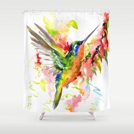 Tropical Hummingbird Shower Curtain